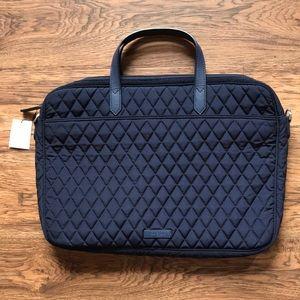 Vera Bradley Quilted Laptop Case - Navy